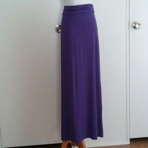 J.crew purple maxi skirt size small